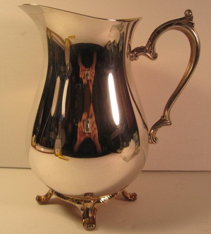 Water/Beverage Pitcher, Silver Plated, International Silver, Footed, 9 Inches