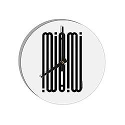 TooLoud Miami Mirage 8 Round Wall Clock