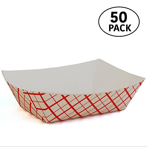 3 lb Paperboard food trays for French Fries, Hot Dogs, Carnival, Arts and Crafts 50 Pack