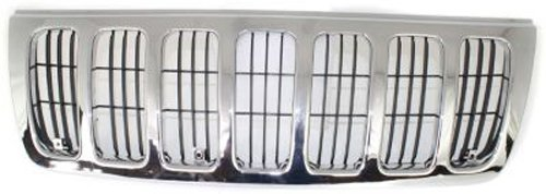 ome Shell w/ Black Insert Grille Assembly for 1999-2003 Jeep Grand Cherokee ()