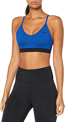 Nike Women's Indy Light Support Sports Bra Indigo Force/Black/Black Small