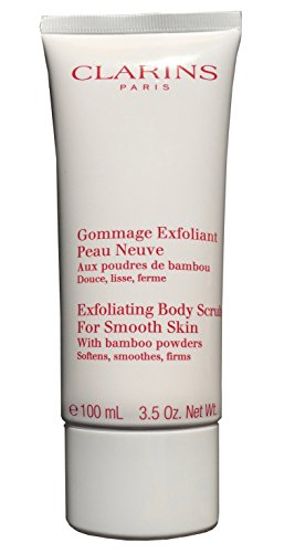 Clarins Exfoliating Body Scrub For Smooth Skin With Bamboo Powders Travel Size - 3.5 Ounces - Bamboo Body Scrub