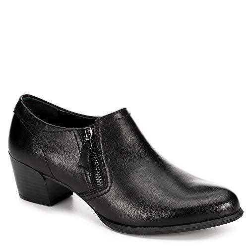 (Medicus Womens Ivana Side Zip Block Heel Pump Shoes, Black, US 6.5)