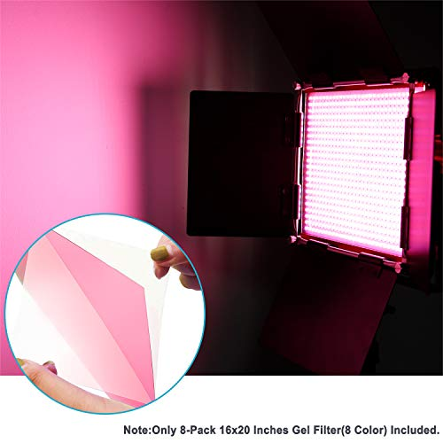 Neewer 8 Pieces Gel Color Filter with 8 Colors -16x20 inches Transparent Color Film Plastic Sheets, Correction Gel Light Filter for Photo Studio Strobe Flash, LED Video Light, DJ Light, etc. by Neewer (Image #1)