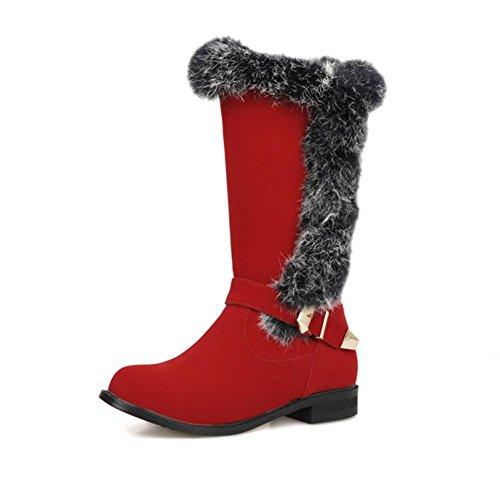antiscivolo scrub Nero neve Verde invernali H usura stivali HDonne Rosso tallone red da fibbia di marrone gomma resistenza cintura basso 39 twavPvq