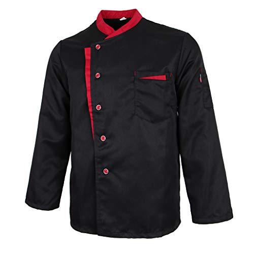 Baoblaze Chaqueta de Chef Mangas Largas Jacket Coat Hotel Camareros Hostelería Cocina Uniforme Tops