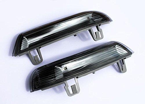 LED Side Mirror Black Smoke Turn Signals Marker Light For VW GTI Jetta MK5 Passat B6