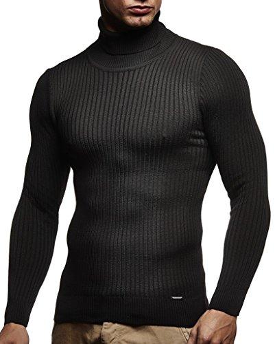 Leif Nelson Men's Turtleneck Sweater Slim Fit | Men's Polo Neck Longsleeve | Turtleneck Sweater Long Sleeve for Men (Stone Island Long Sleeve Polo Slim Fit)