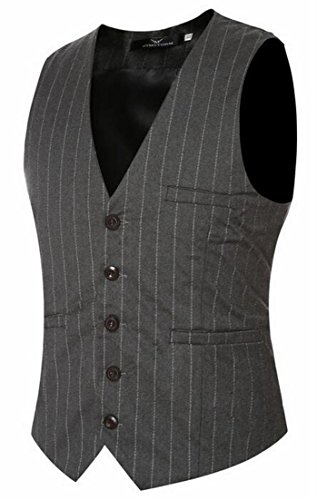 V Neck UK Grey Mens today Vest Blazer Waistcoat Jacket Stripe 6EwvqCxq