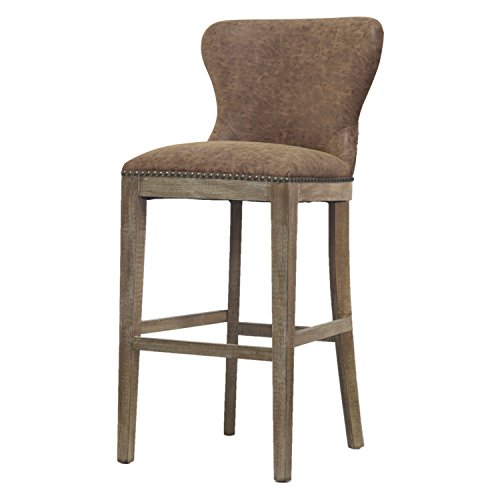 New Pacific Direct 3900021-NCE Dorsey Bar Stool Furniture, Nubuck Chocolate