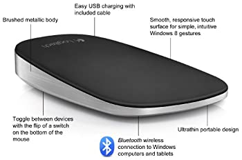 Logitech Ultrathin Touch Mouse T630 For Windows 8 Touch Gestures 4