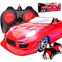 """HRK Remote Controlled car 4 Function Remote Car can go Forward Backward Left Right"""" Racing Sports Car, Remote car for Kids ( Assorted Colors ) Battery not Included ]"""