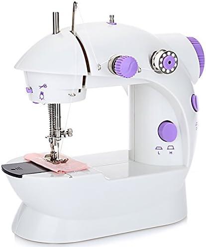 DULPLAY Mini Automático Máquina de Coser,Electrónica Hilo Doble Velocidad Control botón de Fácil de Usar para Principiantes-Púrpura 17x9.5x18cm(7x4x7inch): Amazon.es: Hogar