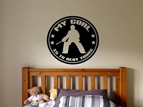 Field Hockey Ball Made (Wall Decal Sticker Bedroom Field Hockey Sport Quote Team Game Hockey Stick Ball Girls Boys Teenager Room fh35)