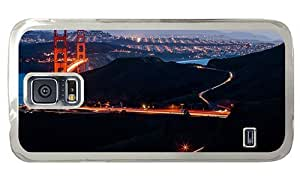 Hipster durable Samsung Galaxy S5 Cases golden gate evening PC for Samsung S5