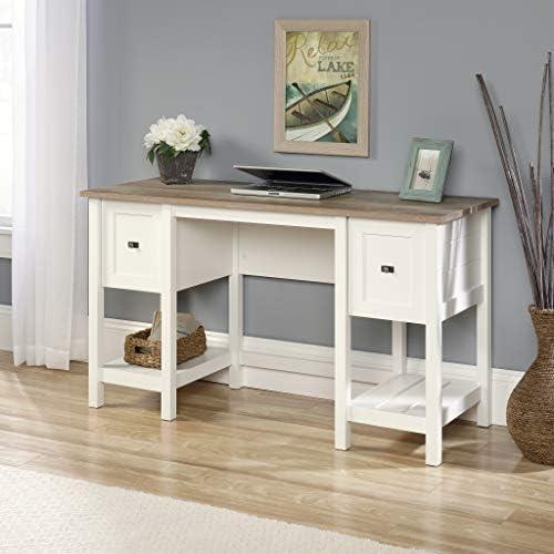 home, kitchen, furniture, home office furniture,  home office desks 11 discount Sauder Cottage Road Desk, Soft White finish promotion