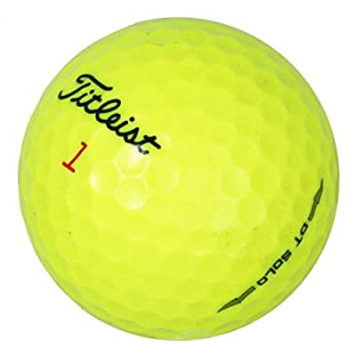 Titleist DT Solo Yellow - Premium Mint Quality - 48 Golf Balls