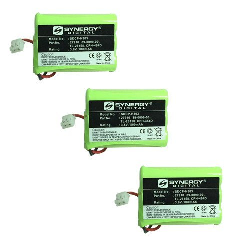 (Radio Shack 23-894 Cordless Phone Battery Combo-Pack includes: 3 x SDCP-H303 Batteries)