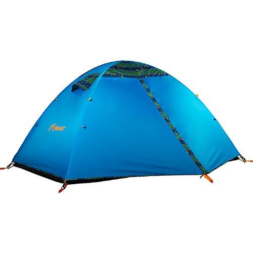 気候中間維持HIMAGET アウトドア テント 1-5人用 防雨?防風?防災 折りたたみ 簡単に組立  二つドア 二層テント 高通気性 レジャーテント 紫外線カット 頑丈 超軽量