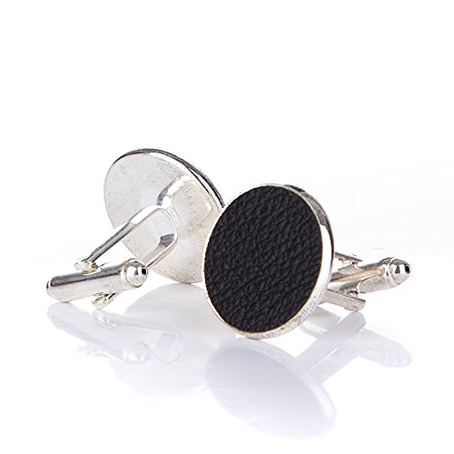 Leather And Silver Cufflinks - 1