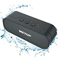 20 Watt Portable Bluetooth Speaker. H.D Sound Quality, IPX 5 Waterproof, Built For Outdoors. WETOP 4017 Bass and Treble by New Vibes