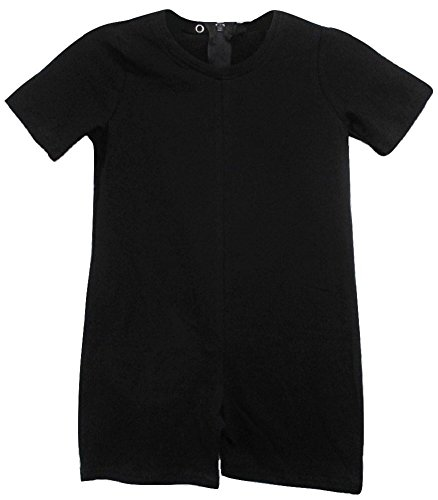 Kids Back Zipper - Benefit Wear Kids Back Zipper One-Piece Onesies-Like Underwear (XS (3-5), Black)