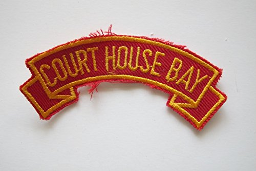 COURT HOUSE BAY Word Tag Embroidery Sew On Applique Patch by ade_patch