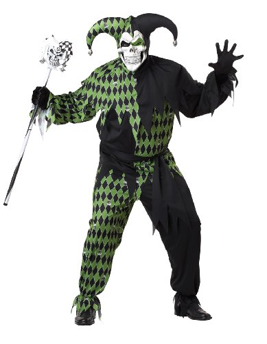 Jester Plus Size Costumes (California Costumes Plus-Size Jokes On You, Black/Green, XX-Large Costume)