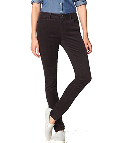 - Ann Taylor LOFT - Women's - Curvy Fit Skinny Corduroy Pants (00, Coal Gray)