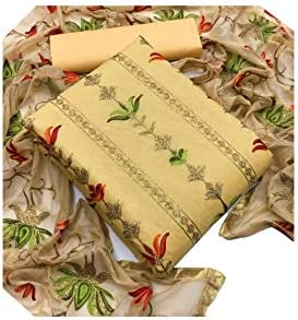 MP Enterprise Women's cotton dress material with dupatta set