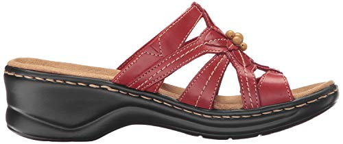 Leather Wide Us Clarks Myrtle Women's Red 7 Lexi Platform X0z8W0P