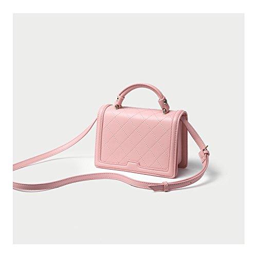 Mano Borsa Skew Maree Unica Dipinta Fata A Pink Summer Rombo riso Borsa Bianco Le Spalla Zhangjia A7RYwqf