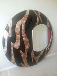 Tamaño grande hecho a mano espejo de pared