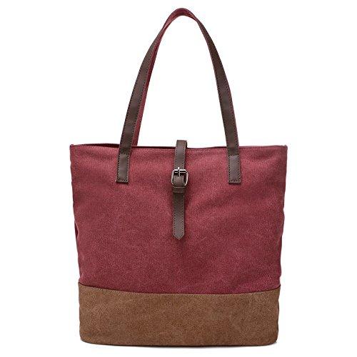 Hobo Signore Maniglia Spesa A Grande Donne La Rete Bags Sacchetto Capacità Per Del Top Svago Totes Di Tracolla Tela Borse nppq7wA4x8