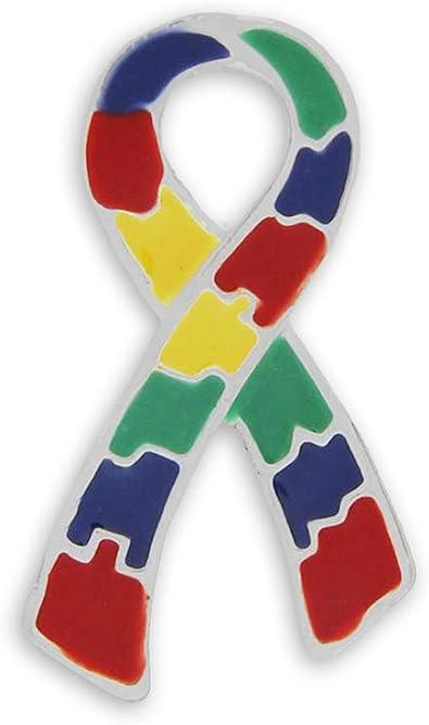 50 Grandes soporte de cinta de Asperger pins (al por mayor – Pack de 50 pines): Amazon.es: Joyería