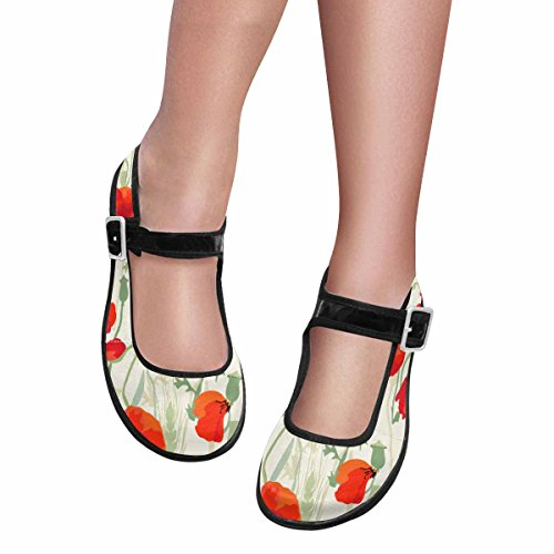 Walking Flats Womens Shoes 7 Casual Comfort Jane Mary InterestPrint Multi aIpYO