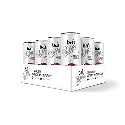 Bai Bubbles Bolivia Black Cherry, Antioxidant Infused, Sparkling Water Drinks, 11.5 Fluid Ounce Cans, 12 count (Packaging May Vary) - Organic Black Cherry