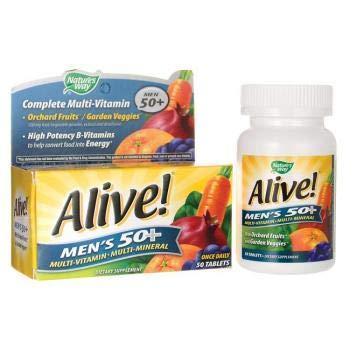 Alive! Men's 50+ Multi-Vitamin - Multi-Mineral 50 Tabs from Nature's Way