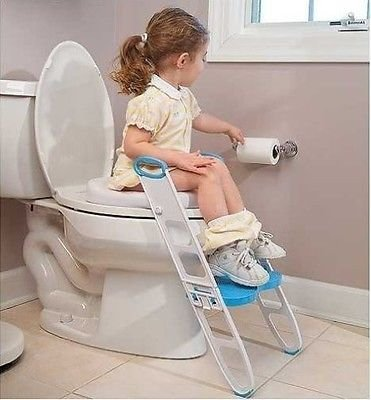 Cushie Step - NEW Toilet Trainer Potty Seat Step Ladder Folding Toilet Training Toddler Poddy