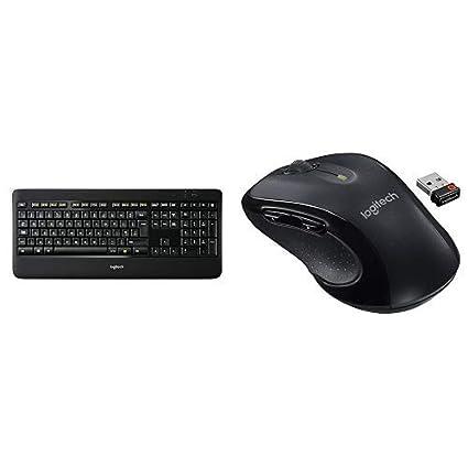 15891e1da97 Amazon.com: Logitech K800 Wireless Illuminated Keyboard with M510 Wireless  Computer Mouse: Electronics