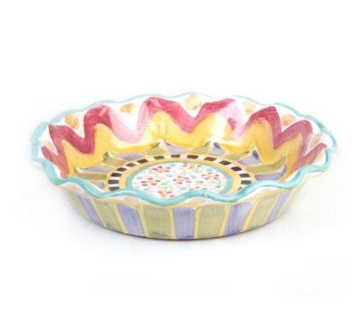 Mackenzie-Childs Roost Pie Plate