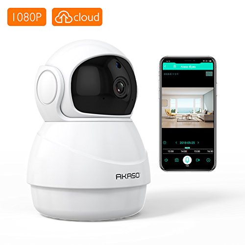 AKASO Wireless Security Camera, 1080P WIFI IP HD Baby/Pets Monitor with Two-way Audio, Phone APP Remote Access, Motion Detect, SD Card/Cloud Storage, Panoramic Navigation,3D Positioning (P20) by AKASO