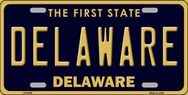 Smart Blonde LP-6700 Delaware Novelty Metal License Plate
