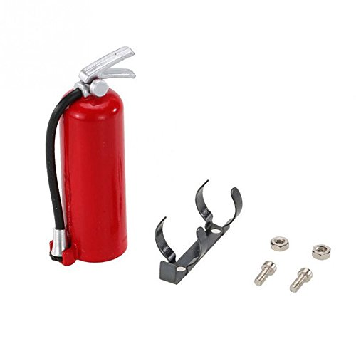 Maonet1:10 Scale RC Crawler Accessory Parts Fire Extinguisher for Axial SCX10 TRX4 D90 (red)