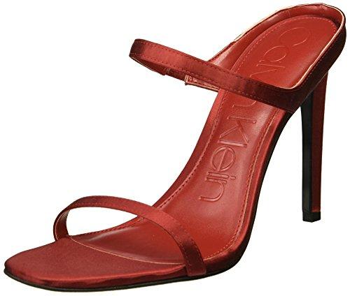 Dala para Calvin Red Sandal Klein mujer Crimson X6XPr5wq