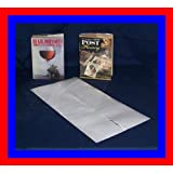 "10 - 11"" x 24"" Brodart Archival Fold-On Book Jacket Covers -- Center-loading, Clear, Mylar, Adjustable"