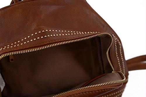 Abbino 2000000141831 - Woman Backpack Bag Brown Dark Braun (art P-4330-176a.) One Size Fits All