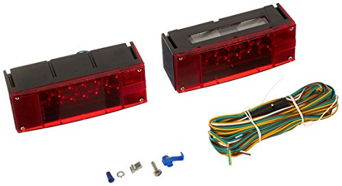MaxxHaul 70468 12V LED Low Profile Submersible Rectangular Trailer Light Kit (Kit Rectangular Light)