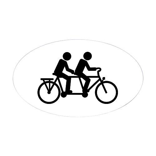 Tandem Bike Racing - CafePress - Tandem Bicycle Bike - Oval Bumper Sticker, Euro Oval Car Decal
