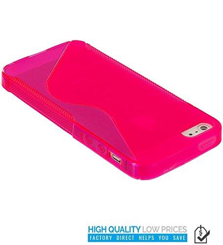 VSHOP ® TPU Silicone Housse Coque Etui Gel Case Cover ROSE s-line pour iPhone 5 / 5s